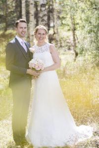 Bild på ett bröllopspar